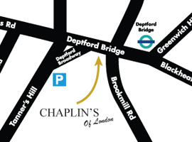 Chaplin's of London small location map